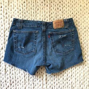 5 for $25 SALE Levi's Distressed Denim Jean Shorts